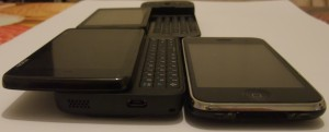 G1 (top), N900 (left), iPhone 3GS (right)