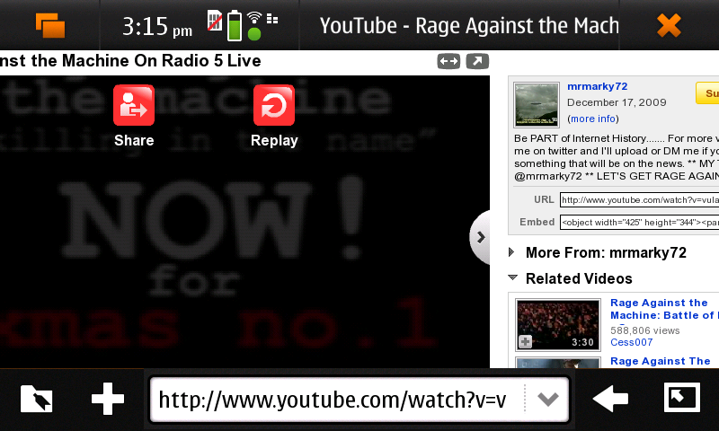 N900-YouTube Windowed